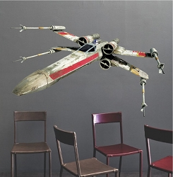 Fighter Space Ship Wall Mural Decal