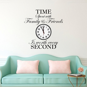 Time Spent With Family and Friends Is Worth Every Second Wall Quote