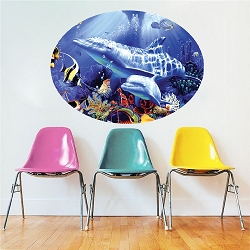 Dolphin Wall Decal Design