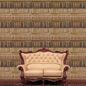 Library Wallpaper Decal Rustic Book Wallpaper Self Adhesive Wallpaper
