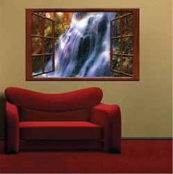 Waterfall View Wall Mural Decal