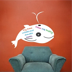 Writable Whale Wall Decal