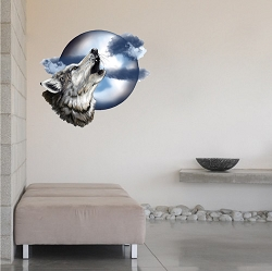 Howl at the Moon Wolf Decal