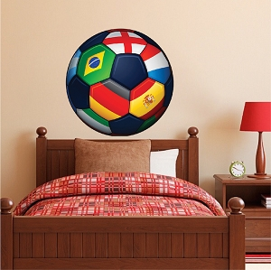 Large Soccer Ball Wallpaper Decal