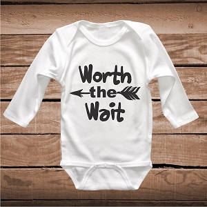 Worth The Wait Cute Baby Onesie
