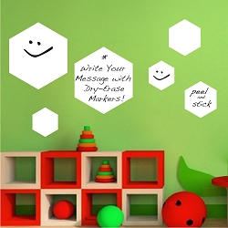 Writable Hexagon Wall Decal
