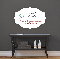 Dry Erase Plaque Wall Decal