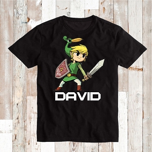Zelda Video Game Custom Tee Shirt