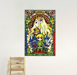 Zelda Stained Glass Wall Mural Decal