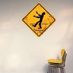 Zombie Crossing Wall Mural Decal