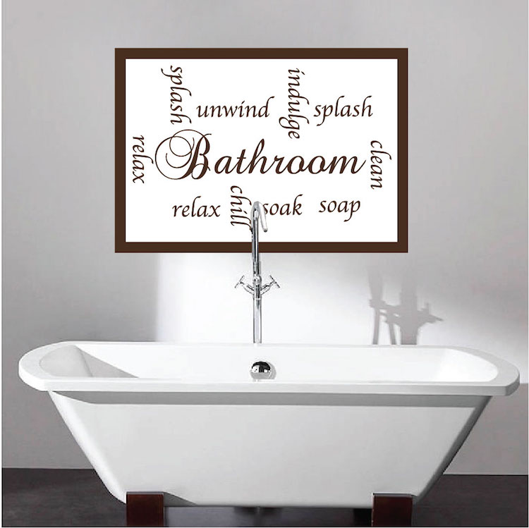 Charmant Bathroom Sayings Wall Mural Decal