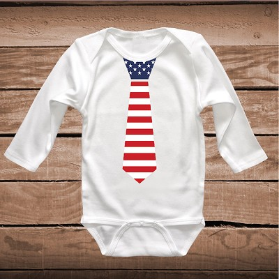 Clever American Tie T-Shirt Or Onesie