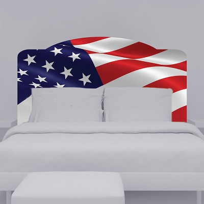 American Flag Headboard Wall Mural Decal