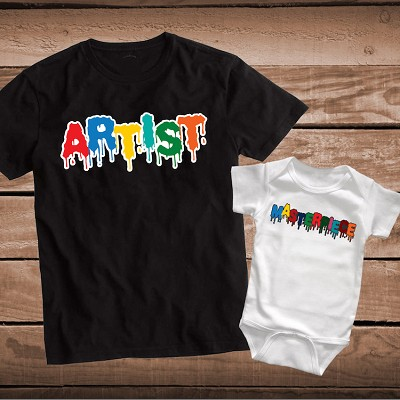 Artist Masterpiece Matching Parent Child Shirt or Onesie