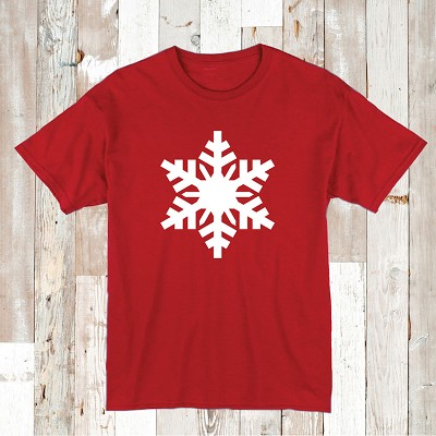 Custom Large Snow Flake Tee Shirt