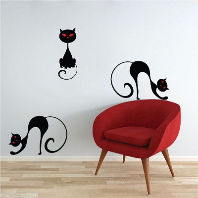 Black Cat Wall Mural Decal