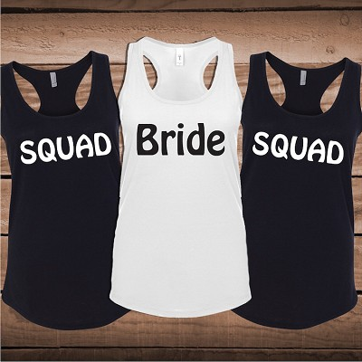 Personalized Wedding Party Tees and Tanks