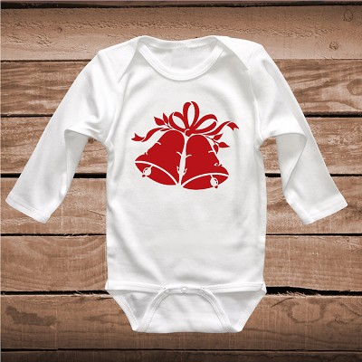 Christmas Bell Custom Tee Shirt Baby Bodysuit