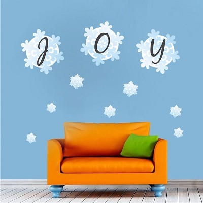 Joy Snowflake Decal Stickers