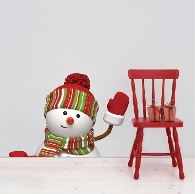 Waving Snowman Wall Decal