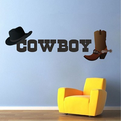 Cowboy Wall Mural Decal