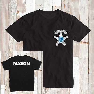 Sheriff Man T-Shirt Kids Custom Tee Shirt