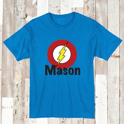 Flash Superhero Custom T-Shirt With Name