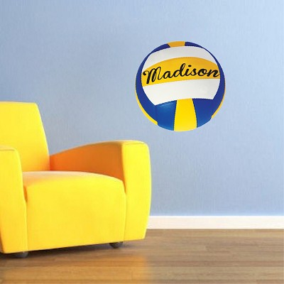 Girls Volleyball Bedroom Graphic