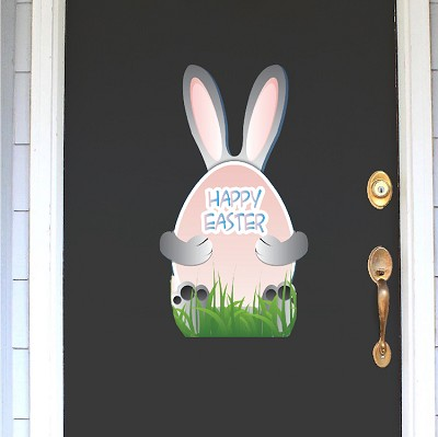 Cute Happy Easter Bunny Decal Mural