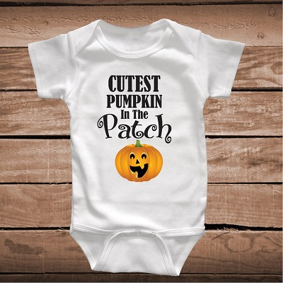 Cutest Pumpkin In The Patch Onesie or Tee