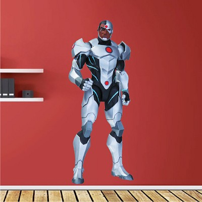 Cyborg Superhero Wall Decal Room Decor