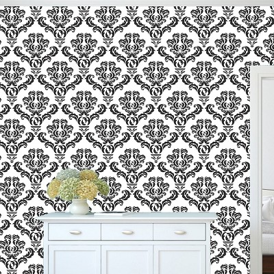 Damask Wallpaper Self Adhesive Decal