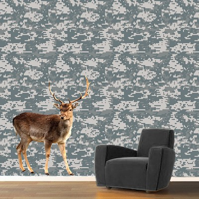 Digital Camouflage Wallpaper Decal