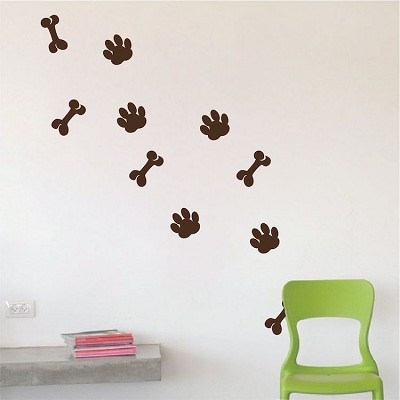 Dog Paws Wall Mural Decal