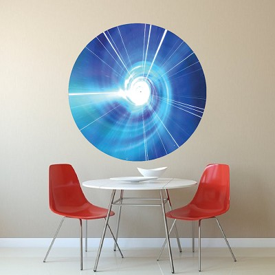 Time Warp Tardis Wall Decal Sticker