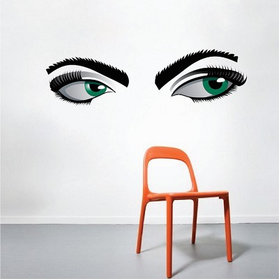 Mystery Eyes Wall Mural Decal