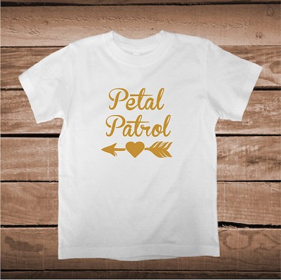 Petal Patrol T-Shirt Tee Flower Girl Wedding Shirt