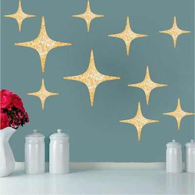 Gold Stars Wall Decals
