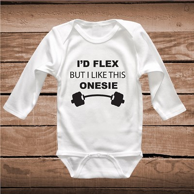 I'd Flex But I Like This Shirt T-Shirt Onesie Tee Shirt