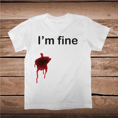 Im Fine Bleeding Funny Prank Halloween Tee Halloween T