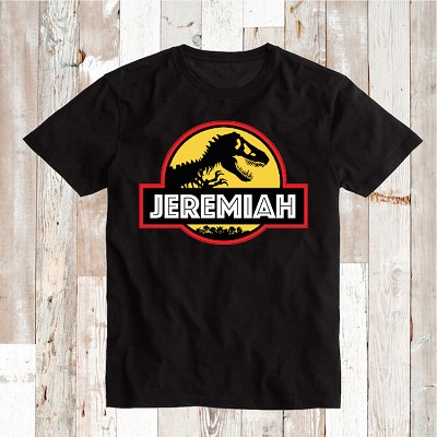 Custom Tee Jurassic Park With Personalized Name