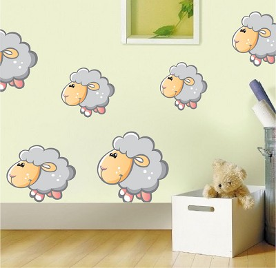 Nursery Sheep Wall Mural Decal