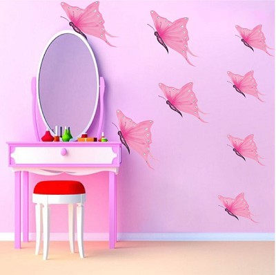 Pink Butterfly Wall Mural Decals