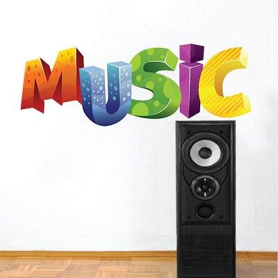 Kid's Music Wall Mural Decal