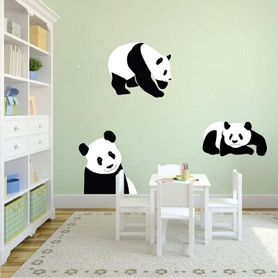 Panda Bears Wall Mural Decals