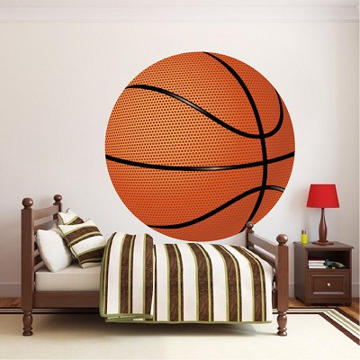 Large Basketball Wallpaper Decal