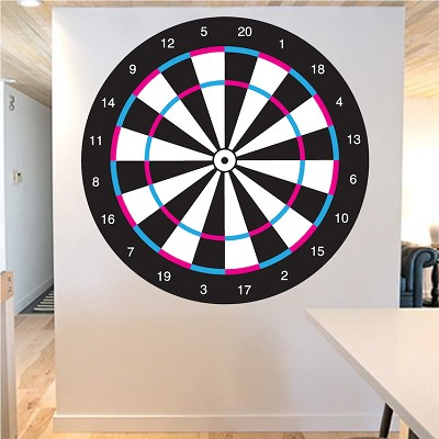 Dartboard Self Adhesive Wall Decal