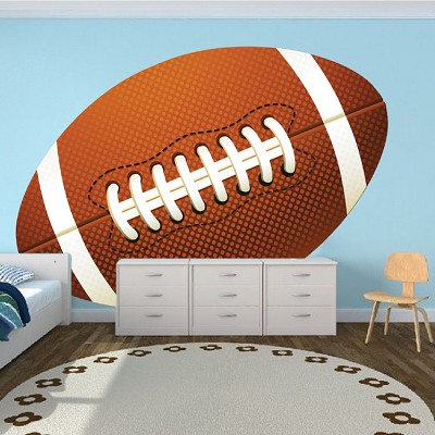 Large Football Wallpaper Graphic