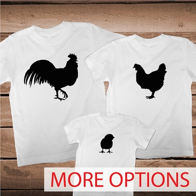 Matching Chicken Farm Family Tees