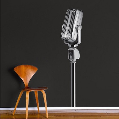 Microphone Wall Mural Decal